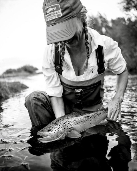 The woman who chases fly-fishing records